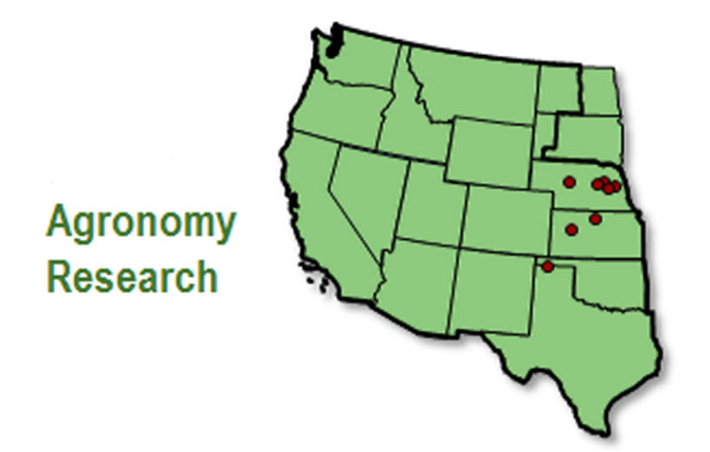 Map: Western U.S. Agronomy Research locations.