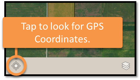 Tap to look for GPS coordinates.