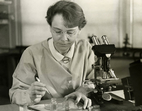 This is a photo of Barbara McClintock.
