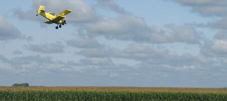 Aerial fungicide application