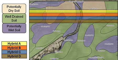 Visualization of as-planted zones and Pioneer EnClass Soils layers.