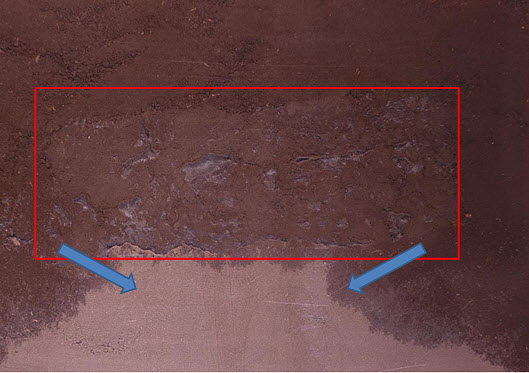 This is a photo showing a zone of highly compacted soil.