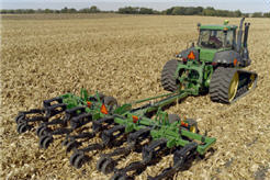 Primary tillage in the fall accelerates residue decomposition.