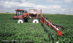 Soybean field work (image courtesy of Case IH).