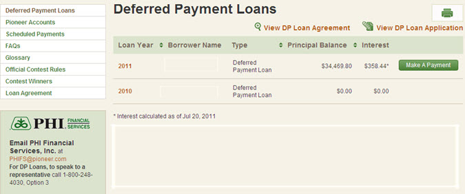 Deferred Payment Loans - listing