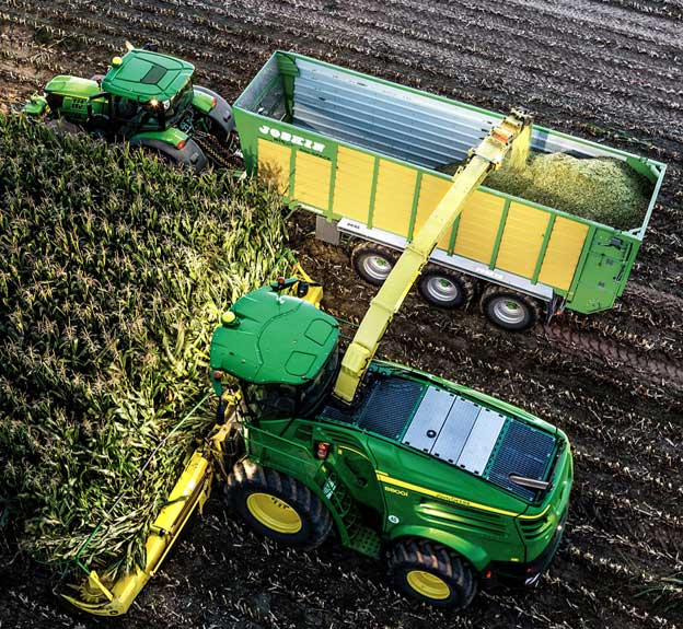 Photo - Overhead - Field harvest operation.