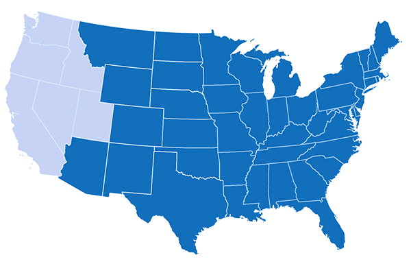 U.S. Map - States Eligible for the TruChoice Program
